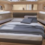 Artists impression of a cabin on the Dufour 470